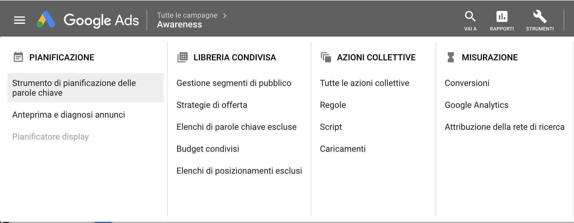 Google keyword planner, Giacomo Casolo