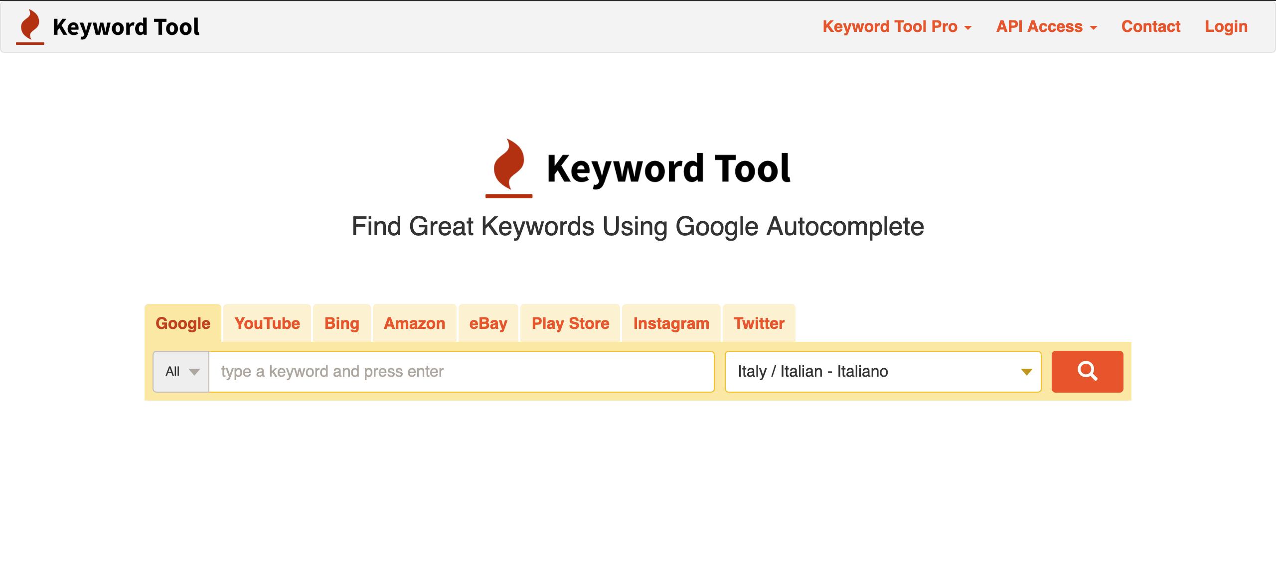 Ricerca parole chiave keyword tool, Giacomo Casolo